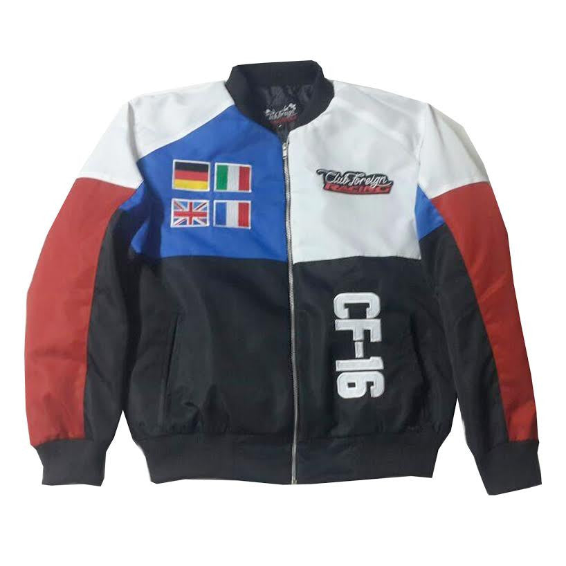 "Club Foreign Racing Worldwide Jacket ""White/Red/Blue"""