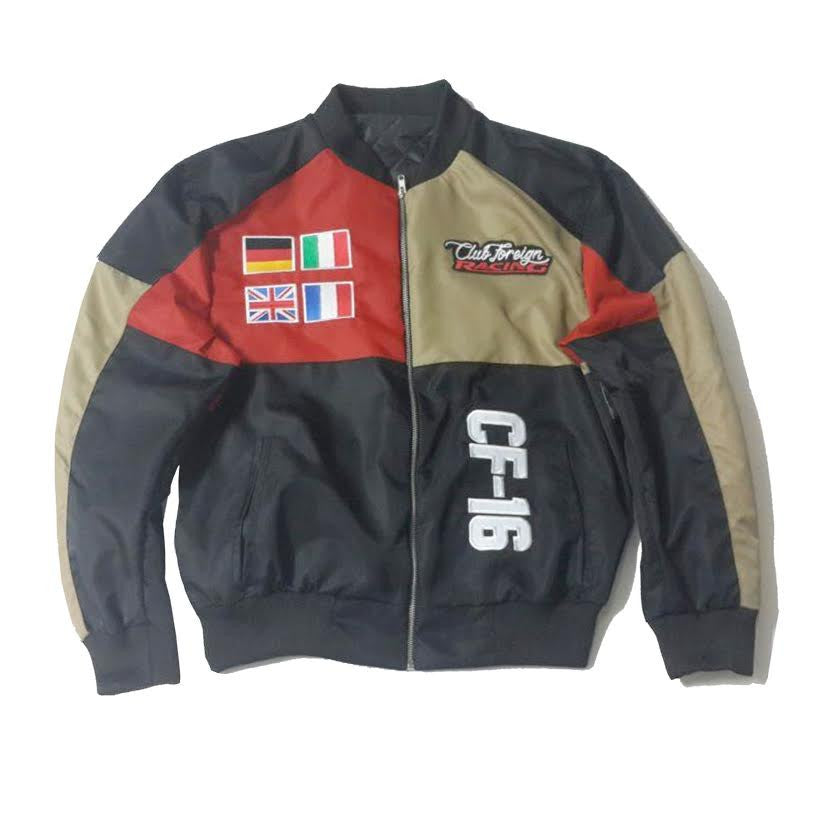 "Club Foreign Racing Worldwide Jacket ""Black/Rad/Tan"""