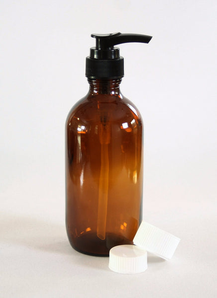Bottle, 200ml Amber Glass, 24mm Screw finish, carton of 50, including closures