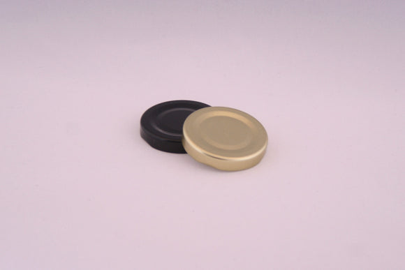 48mm Metal Twist Cap, Black, Gold