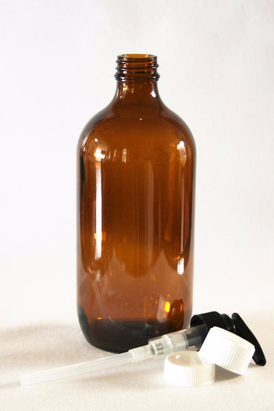 Bottle, 500ml Amber Glass, 28mm Screw finish, carton of 25, including closures