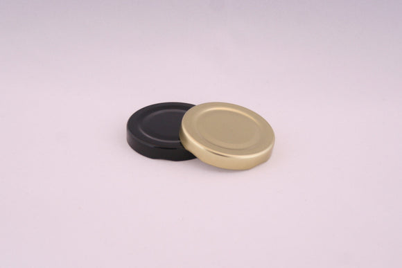 53mm Metal Twist Cap, Black, Gold