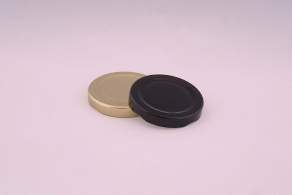 58mm Metal Twist Cap, Black, Gold