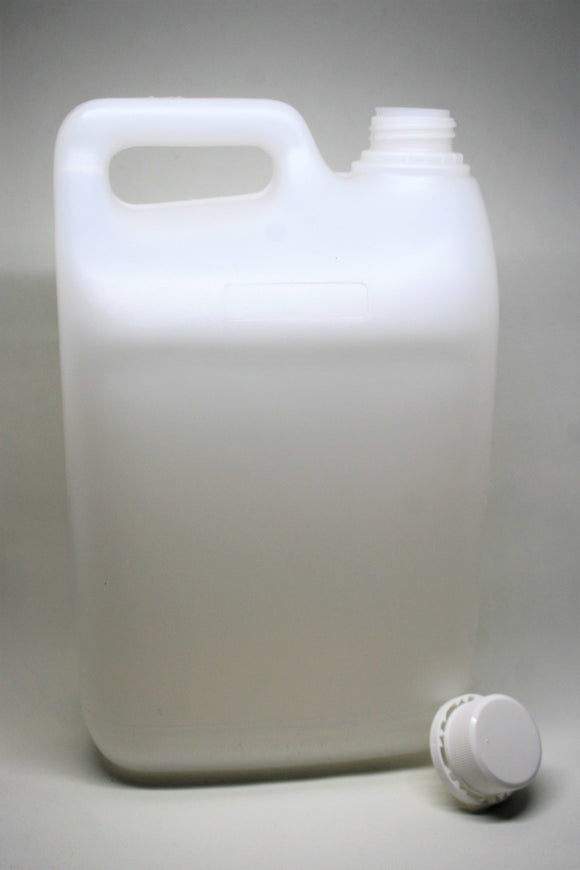 5L Natural HDPE Jerry Can, 38mm screw finish, ctn of 32