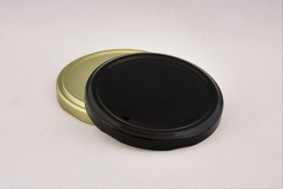 82mm Metal Twist cap, Black, Gold