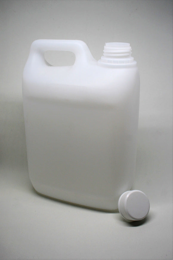 2.5L Natural HDPE Jerry Can, 38mm screw finish, ctn of 64