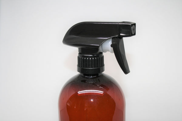 28mm Black poly Trigger Spray, with spray or stream function, to fit 500ml Amber bottles