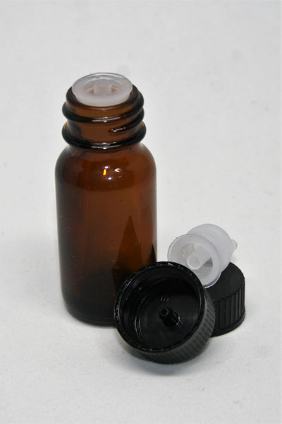 Bottle, 10ml Amber Glass, 20mm Screw finish, carton of 224, including closures