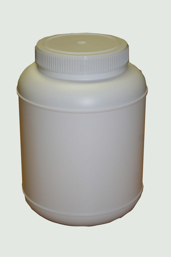 Jar, 2.5L Wide Mouth Natural HDPE, 95mm Screw finish with White Cello Wadded Cap