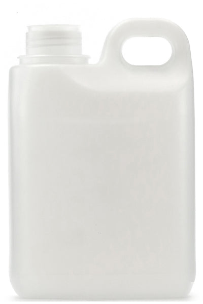 1L Natural HDPE Jerry Can, 38mm screw finish, ctn of 48