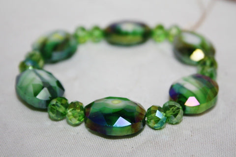 Emerald Green Stretchy Crystal Bracelet