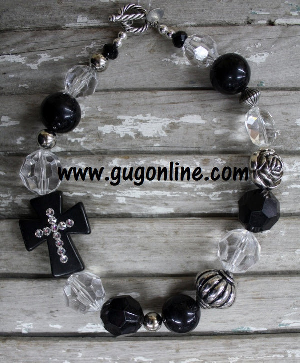 Chunky Cross Stone Necklaces