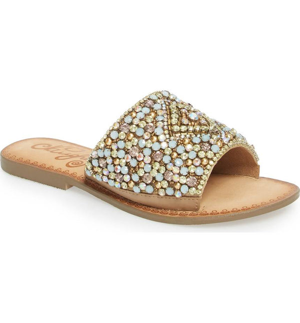 Naughty Monkey Embellished Sparkly Sandals