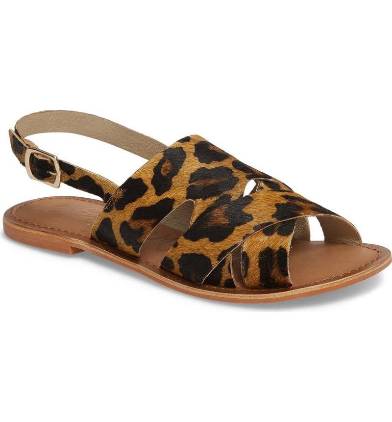 Naughty Monkey Hair On Hide Leopard Sandals
