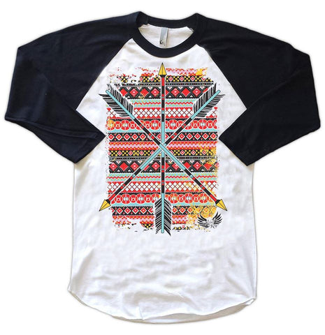 Aztec Arrows Baseball Tee