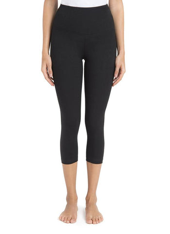Lysse Tummy Control Premium Capri Leggings in Black