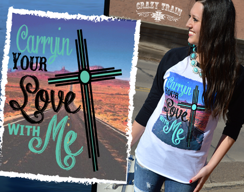 Crazy Train Carryin Your Love With Me Baseball Tee