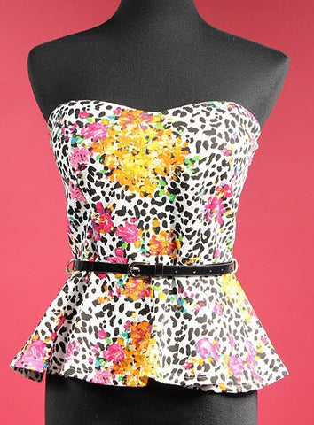 Legally Blonde Sweetheart Floral Top with Belt