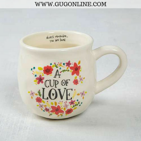A Cup Of Love Floral Mug