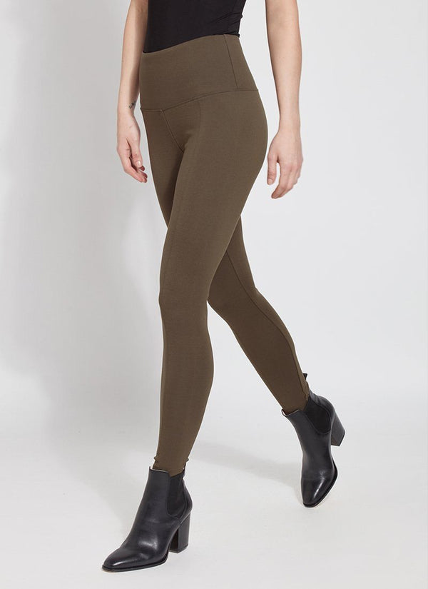 Online Exclusive | Lysse Signature Center Seam Ankle Length Leggings in Olive Green