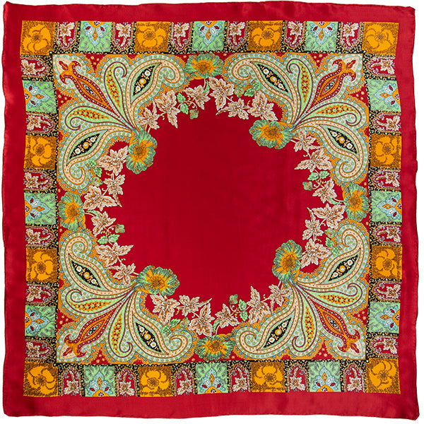 Annapurna Charmeuse Wild Rag in Red