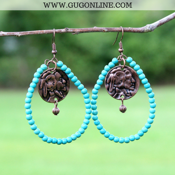 Boho Chic Jewelry Beaded Dangle Earrings Turquoise