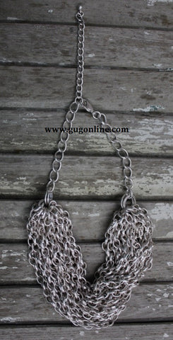 18 Row Silver Chain Necklace