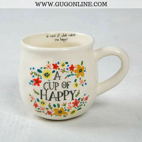 A Cup Of Happy Floral Mug