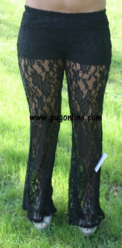 Lace Play A Game Black Lace Pants