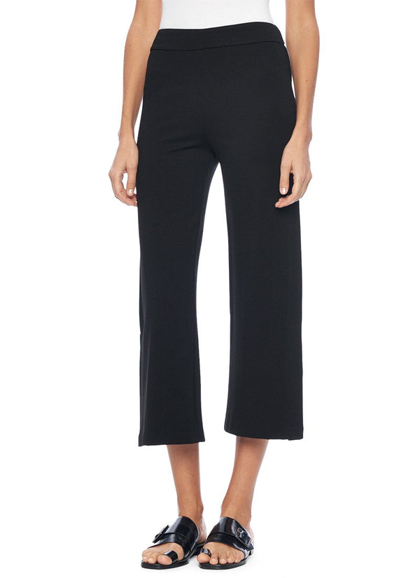 Lysse Flare Crop Leggings in Black Lightweight Ponte