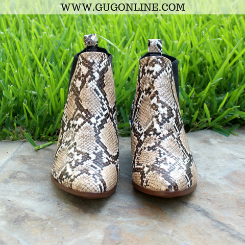 Future Favorite Snakeskin Bootie in Brown | Size 6 and 8