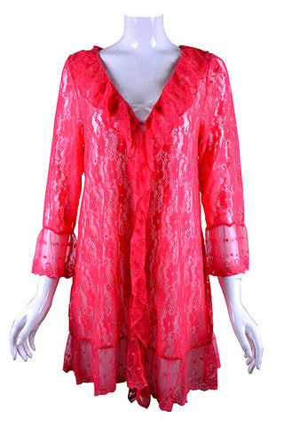 Dreaming of You in Your Coral Lace Cardigan