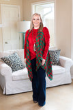 Crush On You Velvet Long Sleeve Tunic Top with Side Knot in Red