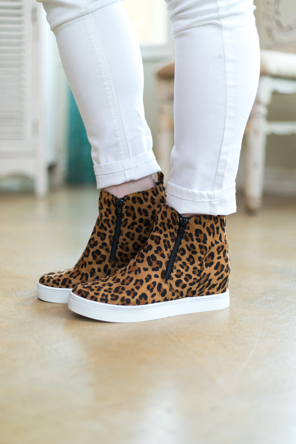 Corky's | Do Your Thing Wedge Sneakers in Leopard
