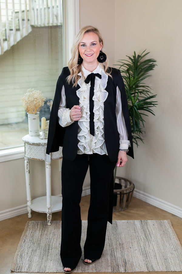 Serious Business Cape Blazer in Black