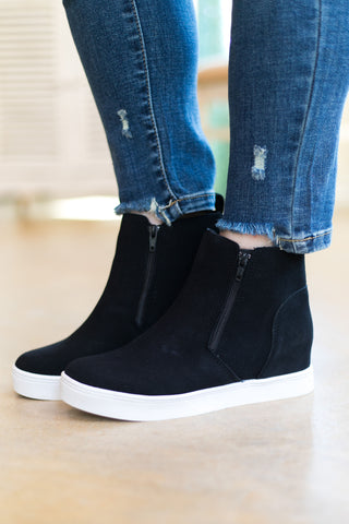 Corky's | Do Your Thing Wedge Sneakers in Black