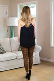 Prowl Power Distressed Skinny Jeans in Leopard
