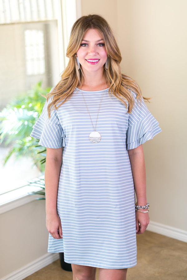 she+sky happiest day stripe striped stripes dress affordable trendy boutique missy plus size curvy ruffle sleeve mint and white