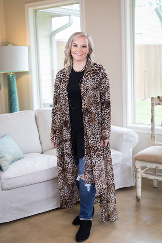 Highs and Lows Sheer Cheetah Print Duster