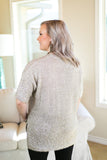 Steeling Time Tinsel Knit Sweater Top in Gold