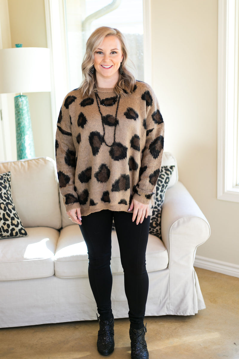 ee72ca1c4a53 Heaven's Touch Large Leopard Print Sweater in Camel Brown – Giddy Up ...