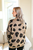 Heaven's Touch Large Leopard Print Sweater in Camel Brown