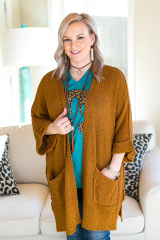 Warm Their Hearts Knit Cardigan with Pockets in Camel