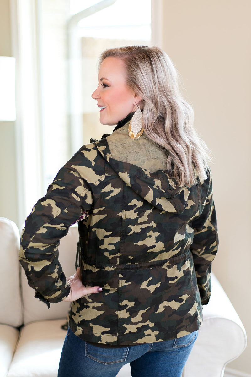 Off The Record Utility Cargo Jacket in Camouflage