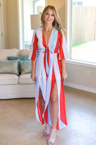 Join In On The Fun Multi Striped Jumpsuit
