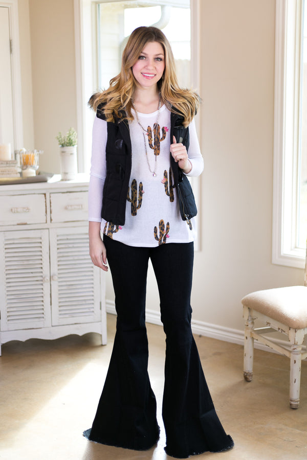 Walk This Way Black High Waist Bell Bottom Jeans