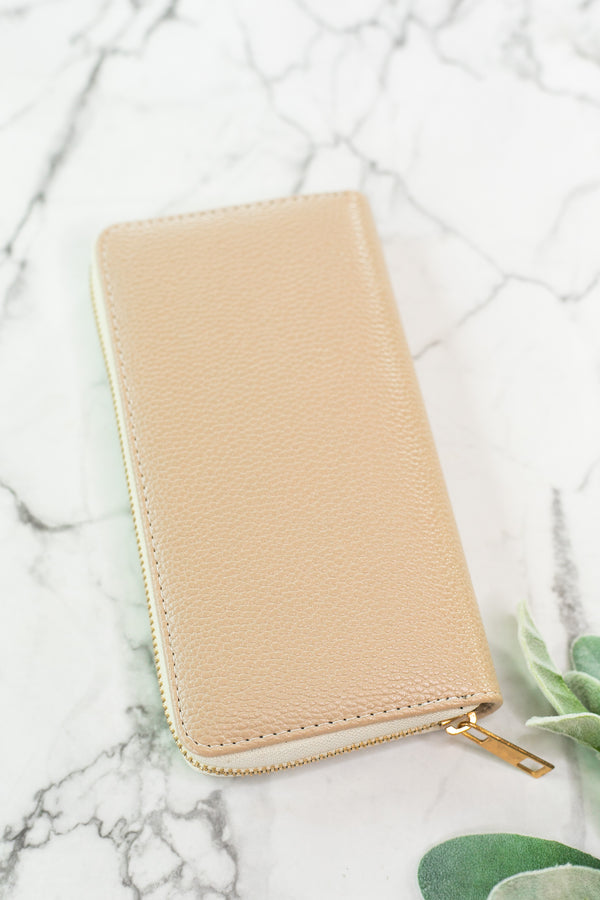 Nude Zip-Around Wallet