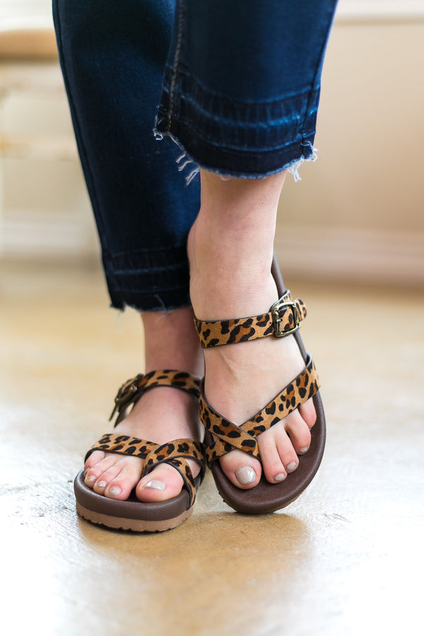 Find The Spot Strappy Sandals in Leopard - sizes 6, 7, 8 and 9 left!