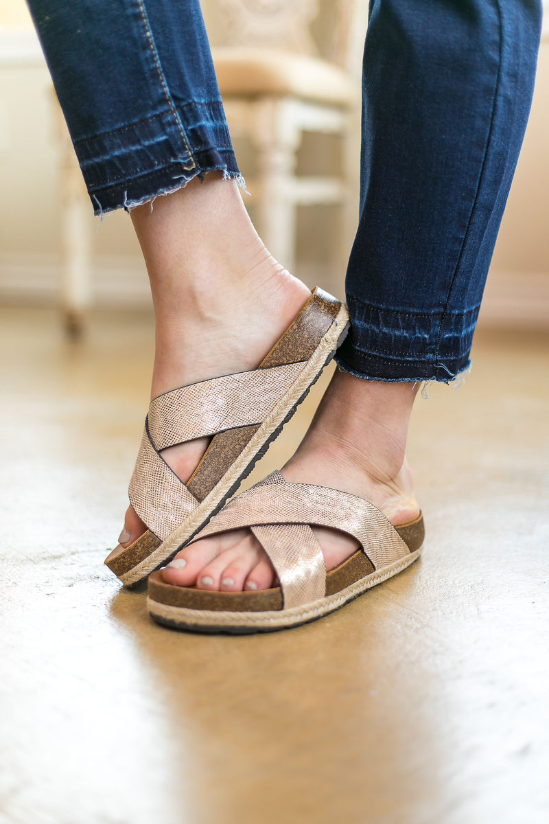 Corky's | Dolphin Sandals in Gold - sizes 6, 7, and 8 left