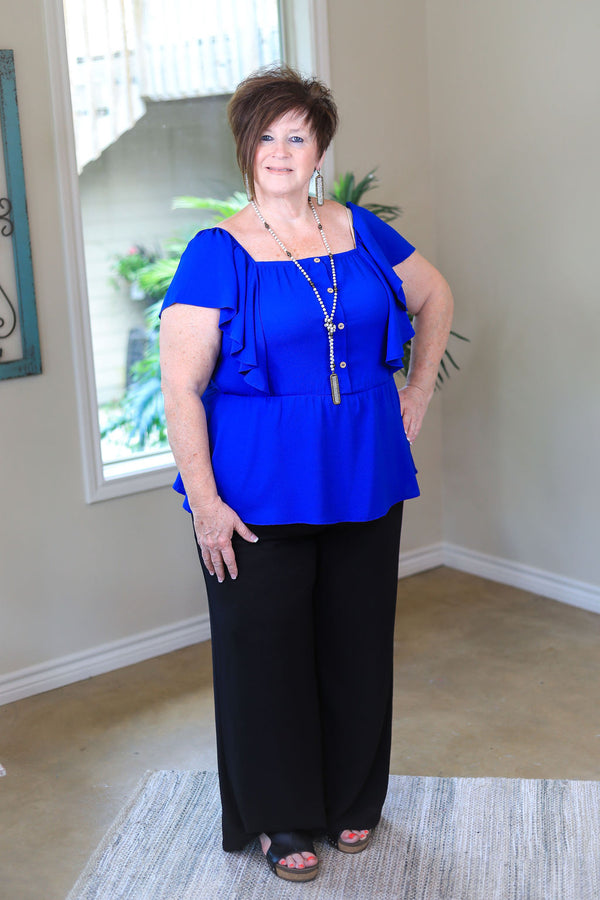 Plus Size | Make It Count Wide Leg Pants in Black